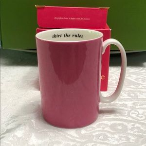Kate Spade skirt the rules mug with box